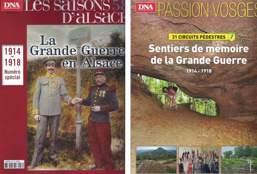 Alsace Great War magazine covers 2014